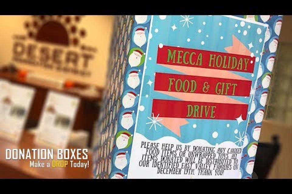 Donation Boxes: Holiday Food And Gift Drive
