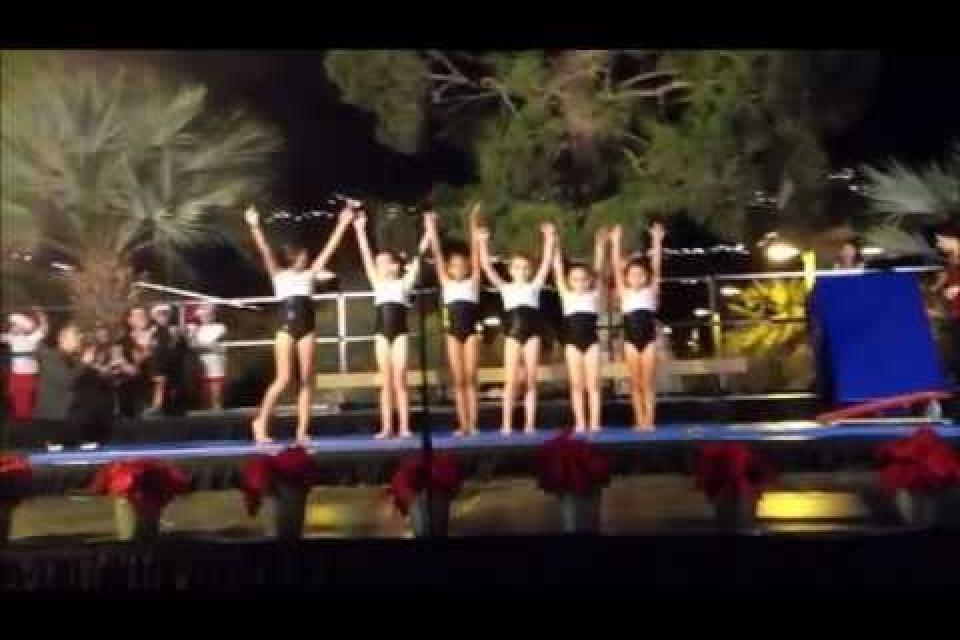 Teamgym Performs At 2012 City Of Indio Tree Lighting Ceremony