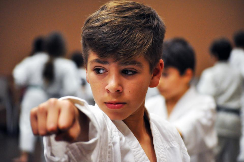 photo of Kids in martial arts class
