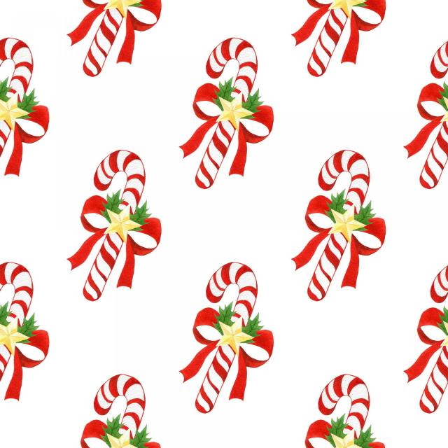 Illustration of candy canes on wallpaper