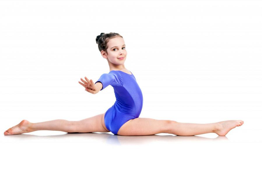 Gymnast doing the splits