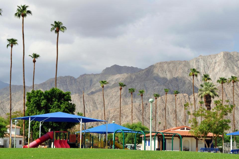 La Quinta Park and surrounding mountains photo