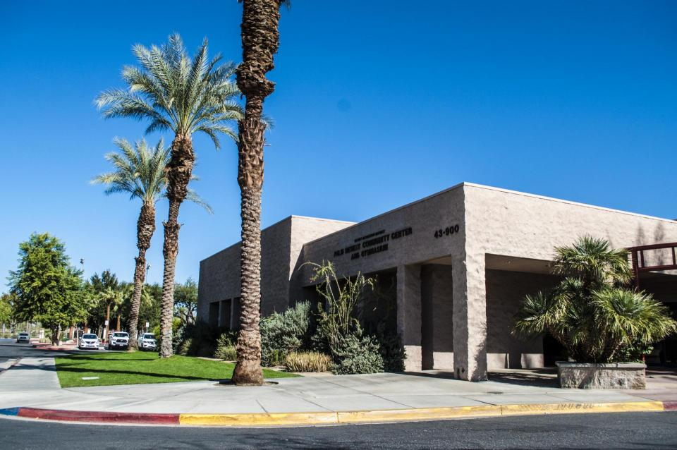 Palm Desert Community Center building entrance