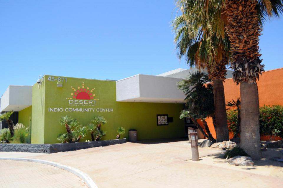 Indio Community Center building entrance photo