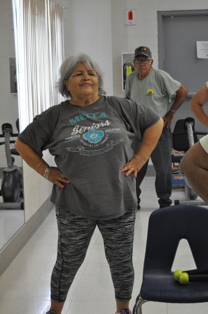 Adult woman in a fitness class