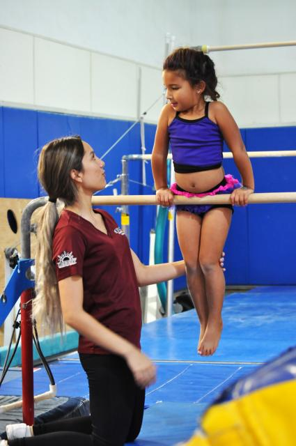 Photo of student in gymnastics class