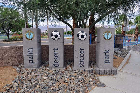 Soccer park entrance photo