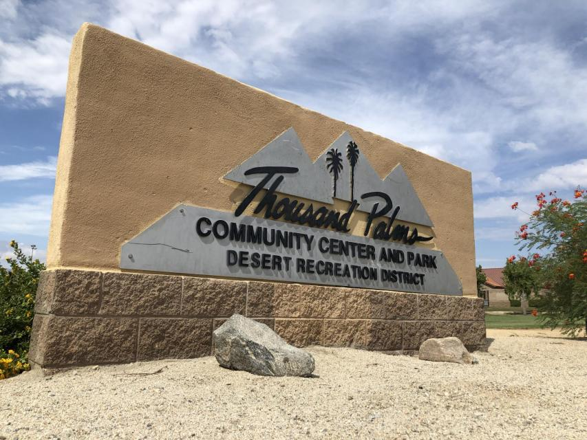 Thousand Palms Community Center building sign photo